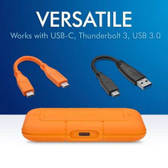 1 TB LaCie Rugged USB 3.2 Gen 2 Type-C External SSD