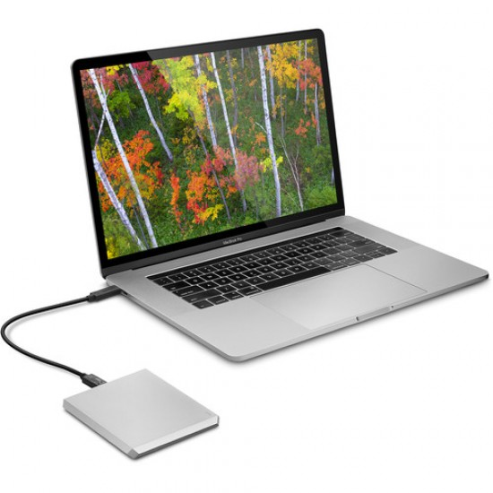 Lacie STHG1000400 1 TB LaCie USB 3.1 Type-C Mobile Drive Moon Silver