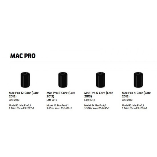 64GB - 4 x 16GB PC14900 DDR3 ECC-R 1866MHz DIMMs for Mac Pro Late 2013