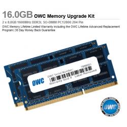 OWC 16.0GB (2x 8GB) 1600MHz DDR3L SO-DIMM PC12800 204 Pin  CL11 RAM