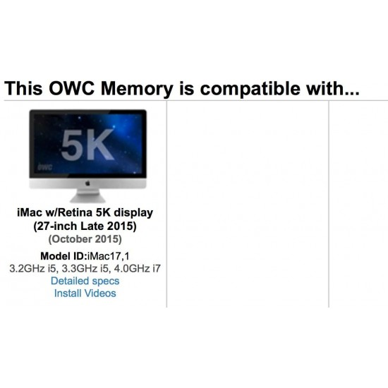 OWC 16.0GB (2x 8GB) 1867MHz DDR3 SO-DIMM PC3-14900 SO-DIMM 204 Pin CL11 Memory