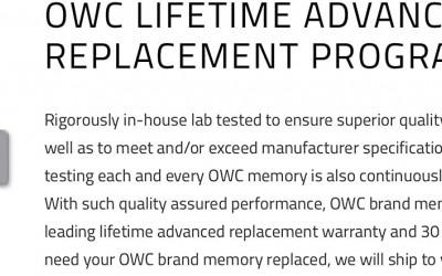 Ömür Boyu OWC Sınırlı Garanti Nedir?