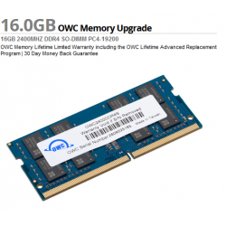 OWC 16.0GB 2400MHz DDR4 PC4-19200 SO-DIMM 260 Pin CL17 Memory