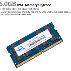 OWC 16.0GB 2666MHz DDR4 SO-DIMM PC4-21300 SO-DIMM 260 Pin
